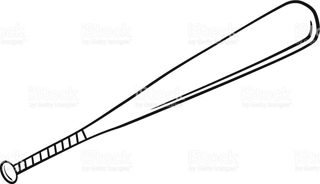 Metal baseball bat clipart