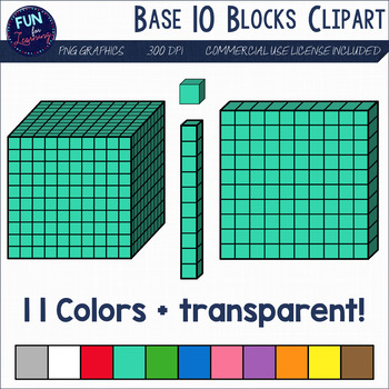 Base 10 Blocks Clipart in 2019.