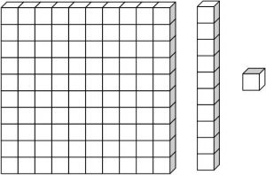 base 10 blocks clipart black and white.