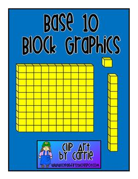 Base 10 Block Graphics FREEBIE.