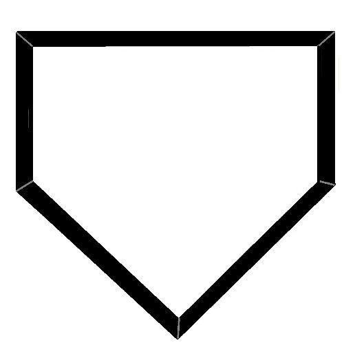 Softball base clipart.