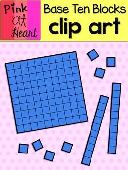 Base Ten Blocks Clip Art FREEBIE.