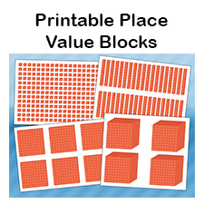 Printable Place Value Blocks.