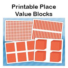 Printable Place Value Blocks.