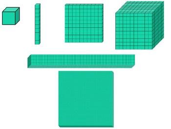 Base ten blocks clipart 1 » Clipart Portal.