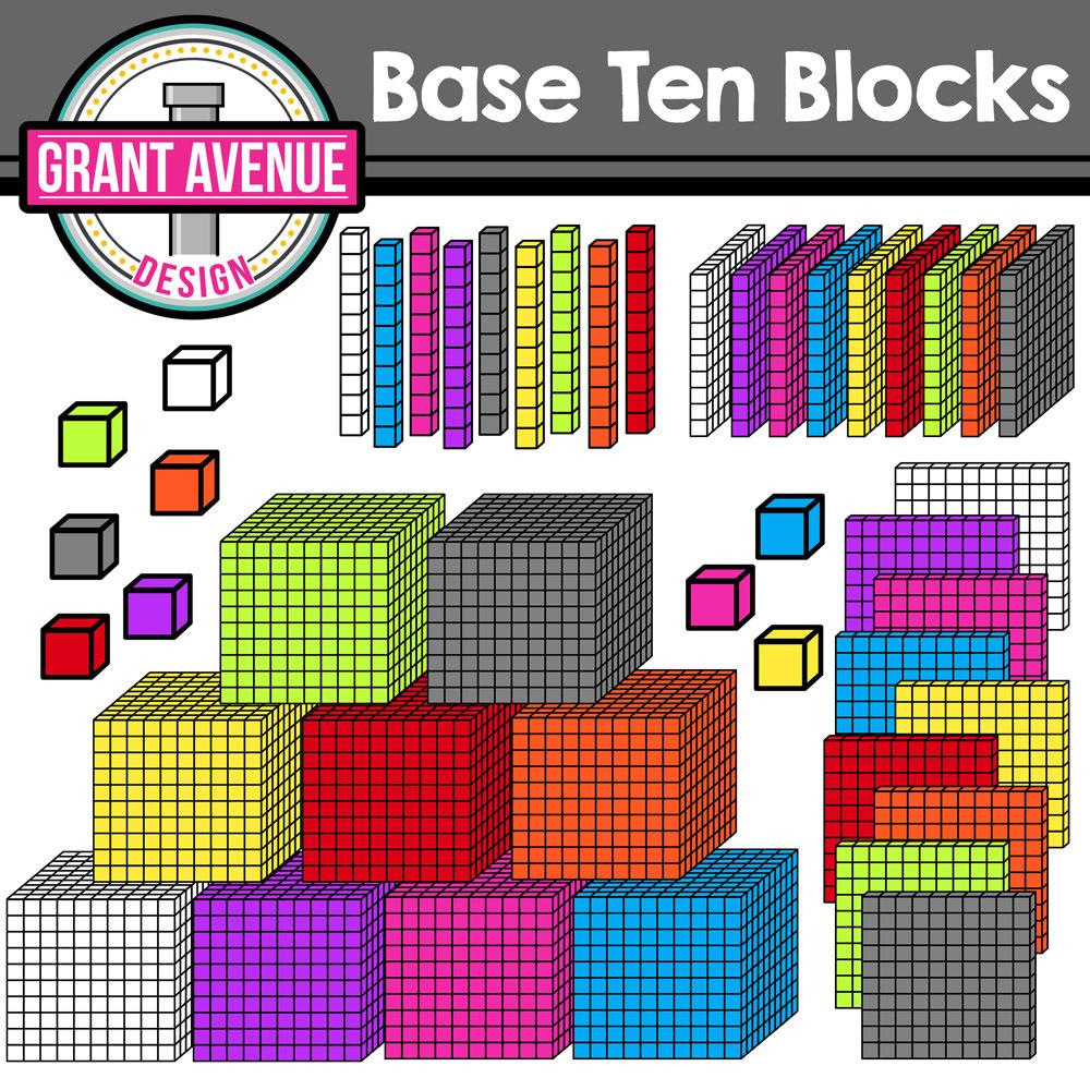 Base ten blocks clipart 8 » Clipart Station.