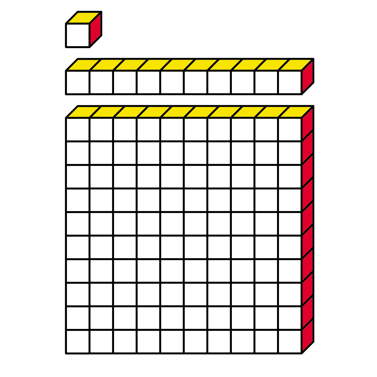 Base Ten Blocks Clipart.