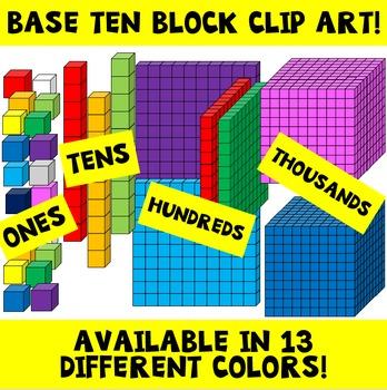 Base Ten Block Clip Art / Place Value Clip Art / Math.