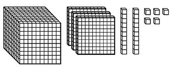 Base 10 Blocks Clipart.