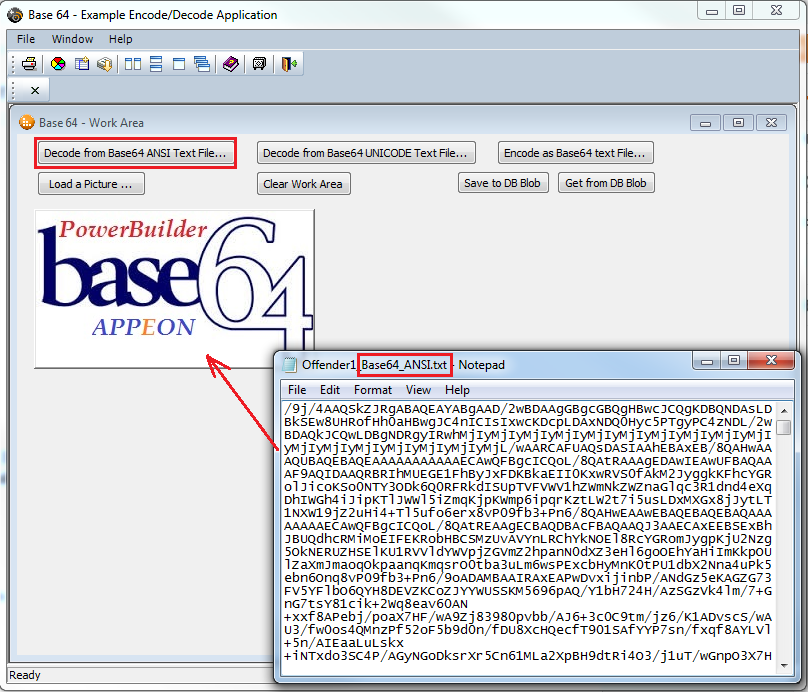 BASE64 Example Application.