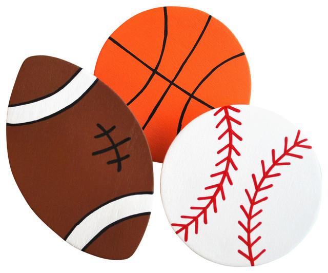 Basketball Football Baseball Clipart.