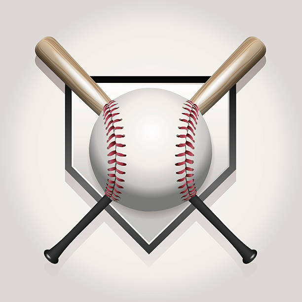 Best Baseball Bat Illustrations, Royalty.