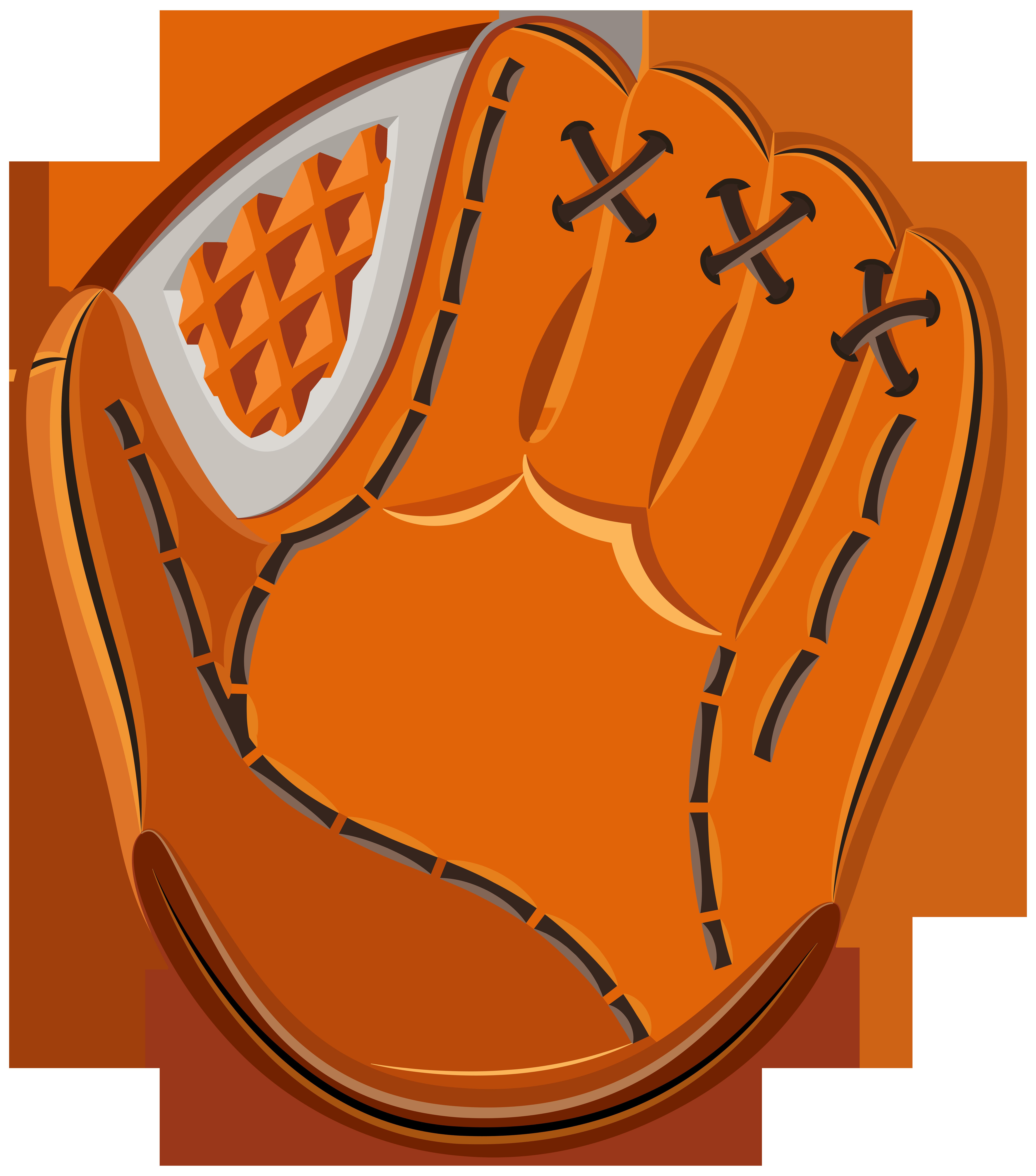 Baseball Glove PNG Clip Art Image.