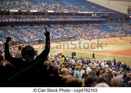 Baseball Crowd Clipart.