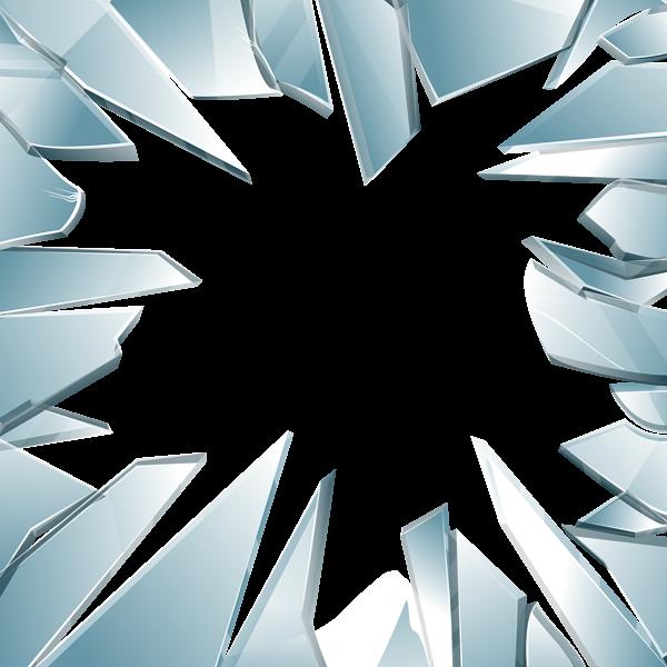 Glass Break Clipart.
