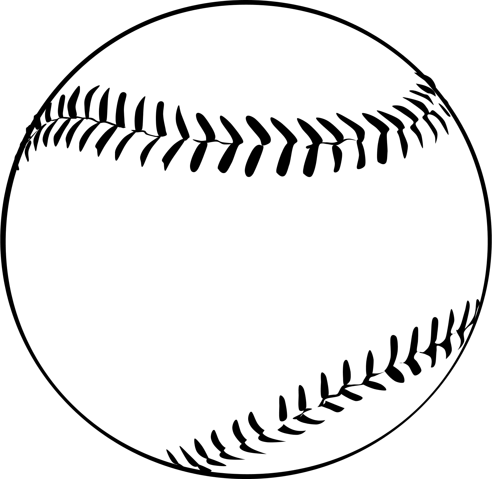 Download High Quality baseball clipart black and white ball.