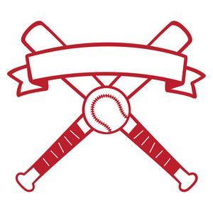 Silhouette Design Store: baseball banner logo.