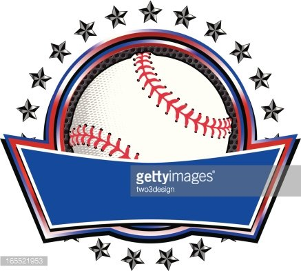 Baseball Circle Banner Clipart Image.
