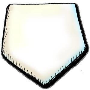 Baseball Bases Clipart.