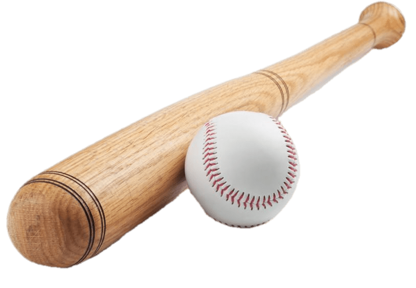 Baseball Bat & Ball transparent PNG.