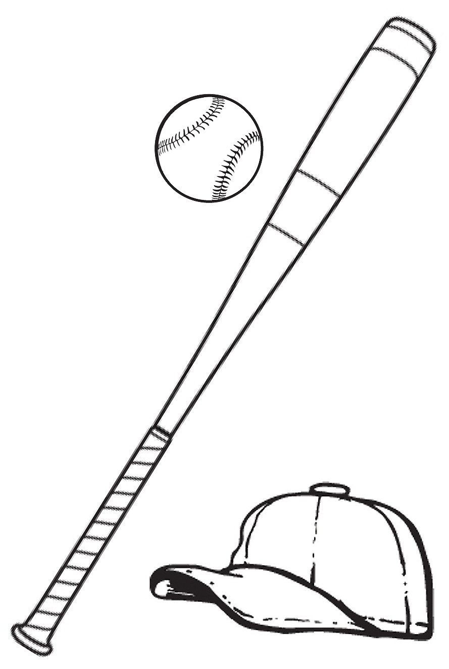 1523 Baseball Bat free clipart.