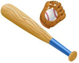 Free Baseball Bat Clip Art:, Baseball Bat Free Clipart.