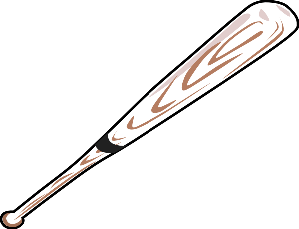 Baseball bat baseball ball and bat clip art free clipart image 3.