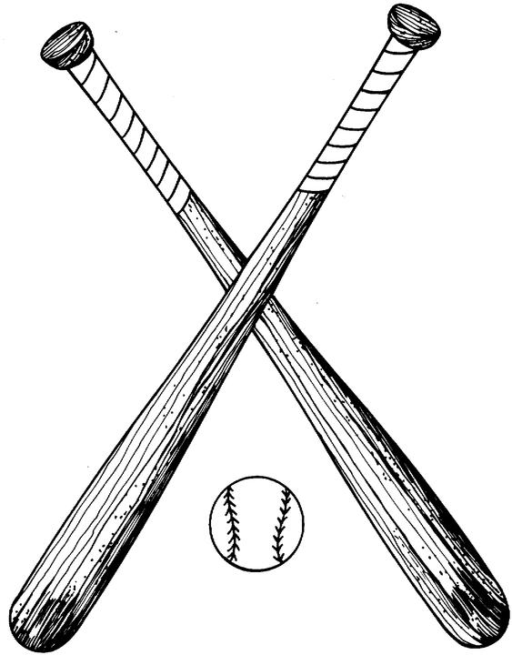Softball Bats Crossed Clipart.