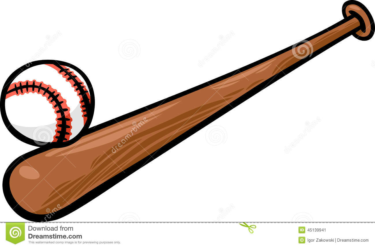 Baseball And Bat Clip Art.
