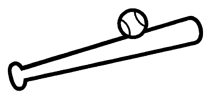 Baseball bat drawings clipart.