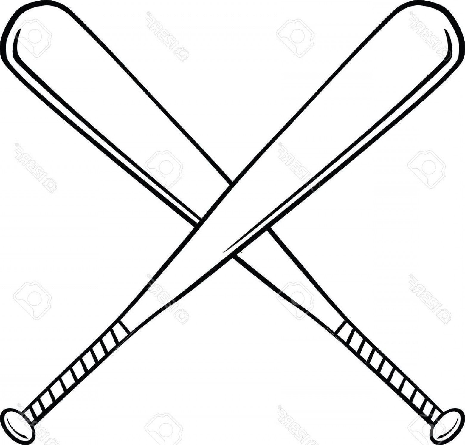 Baseball Bat Vector Logo.