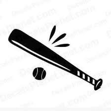 horizontal baseball bat clip art.