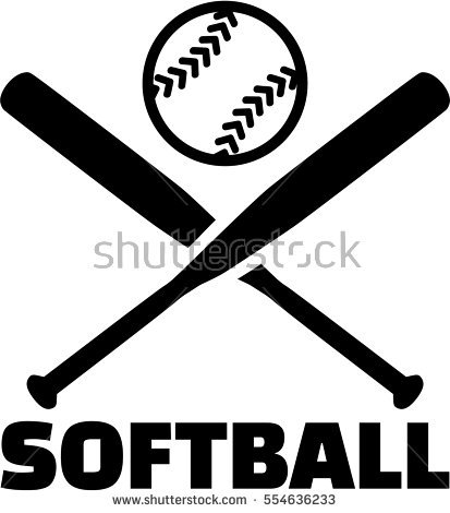 Softball Stock Images, Royalty.
