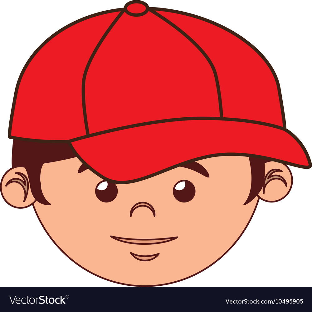 Boy cartoon baseball bat isolated.