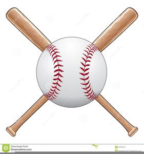 Crossing Baseball Bats Clipart.