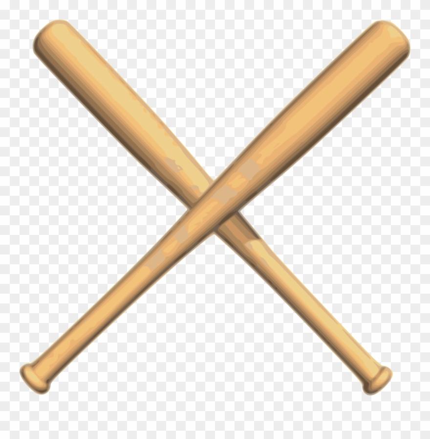 Crossed Bats Baseball.