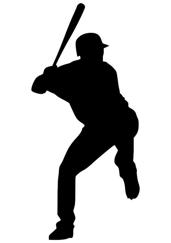 Baseball Batter Vinyl Decal.