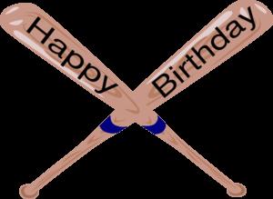 Happy Birthday Baseball Clipart.