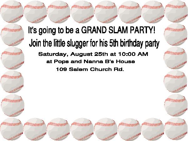 Baseball Birthday Party Clip Art at Clker.com.