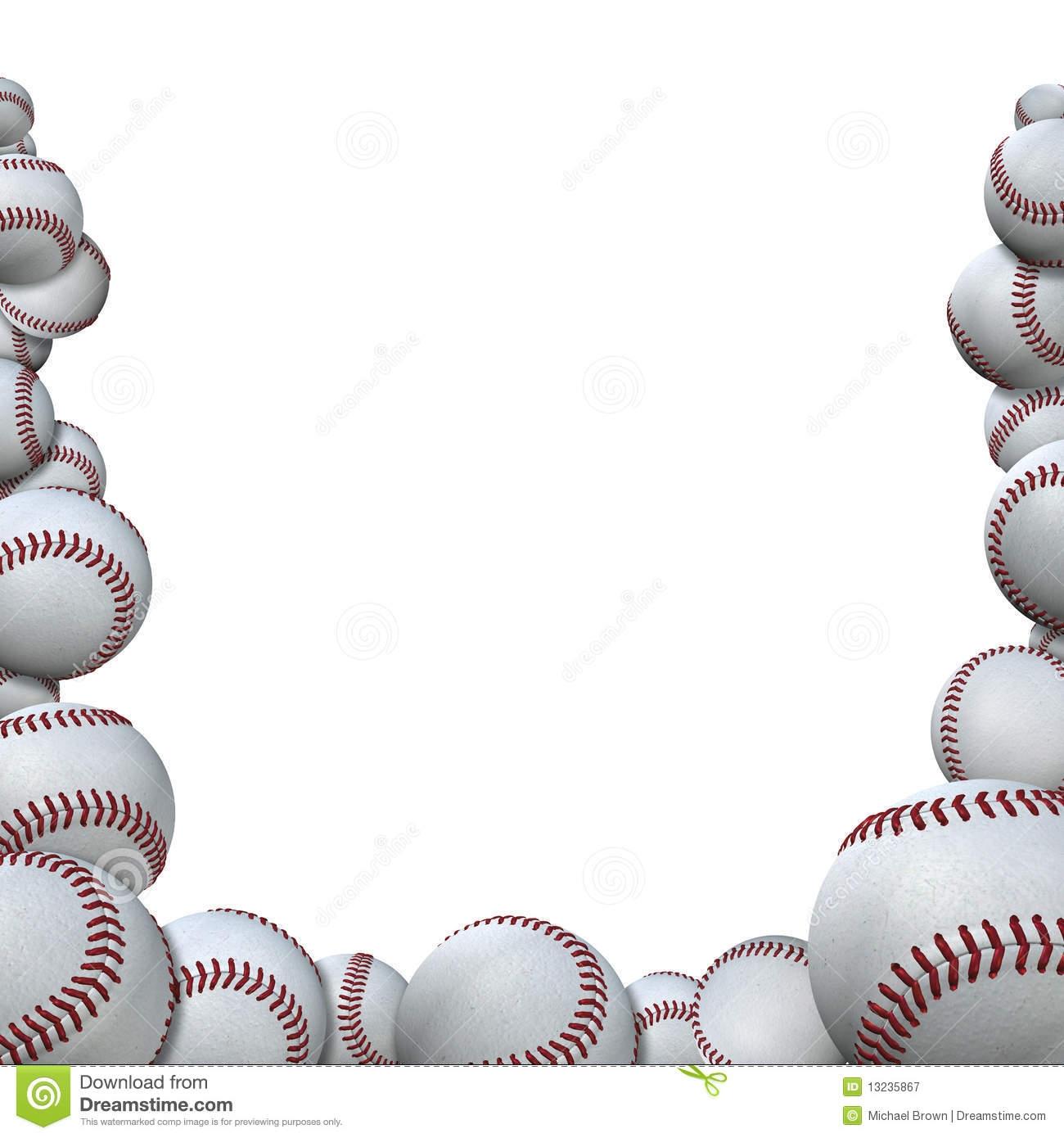 Baseball Border Clipart Free.