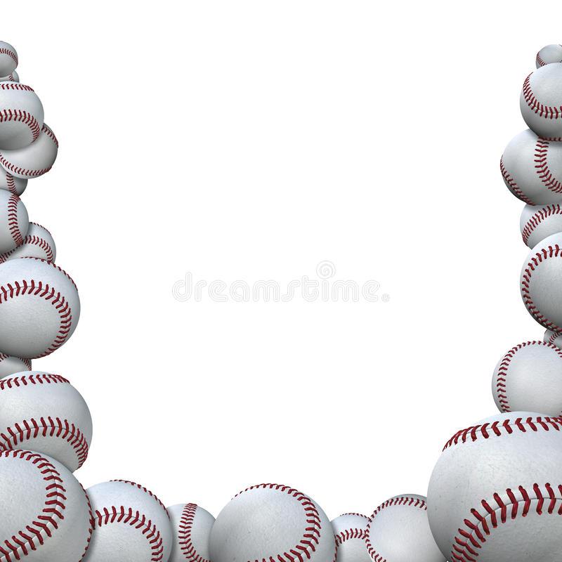 Baseball Border Stock Illustrations.