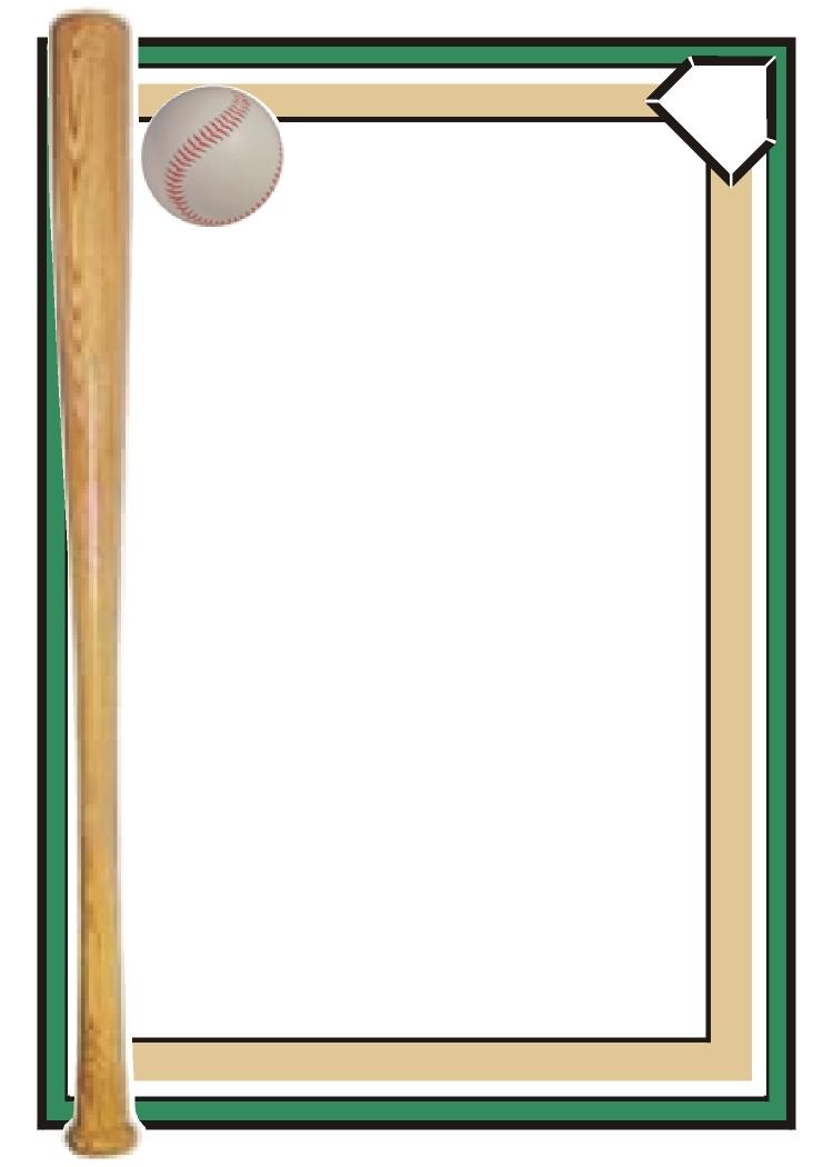 Baseball Border Clipart.