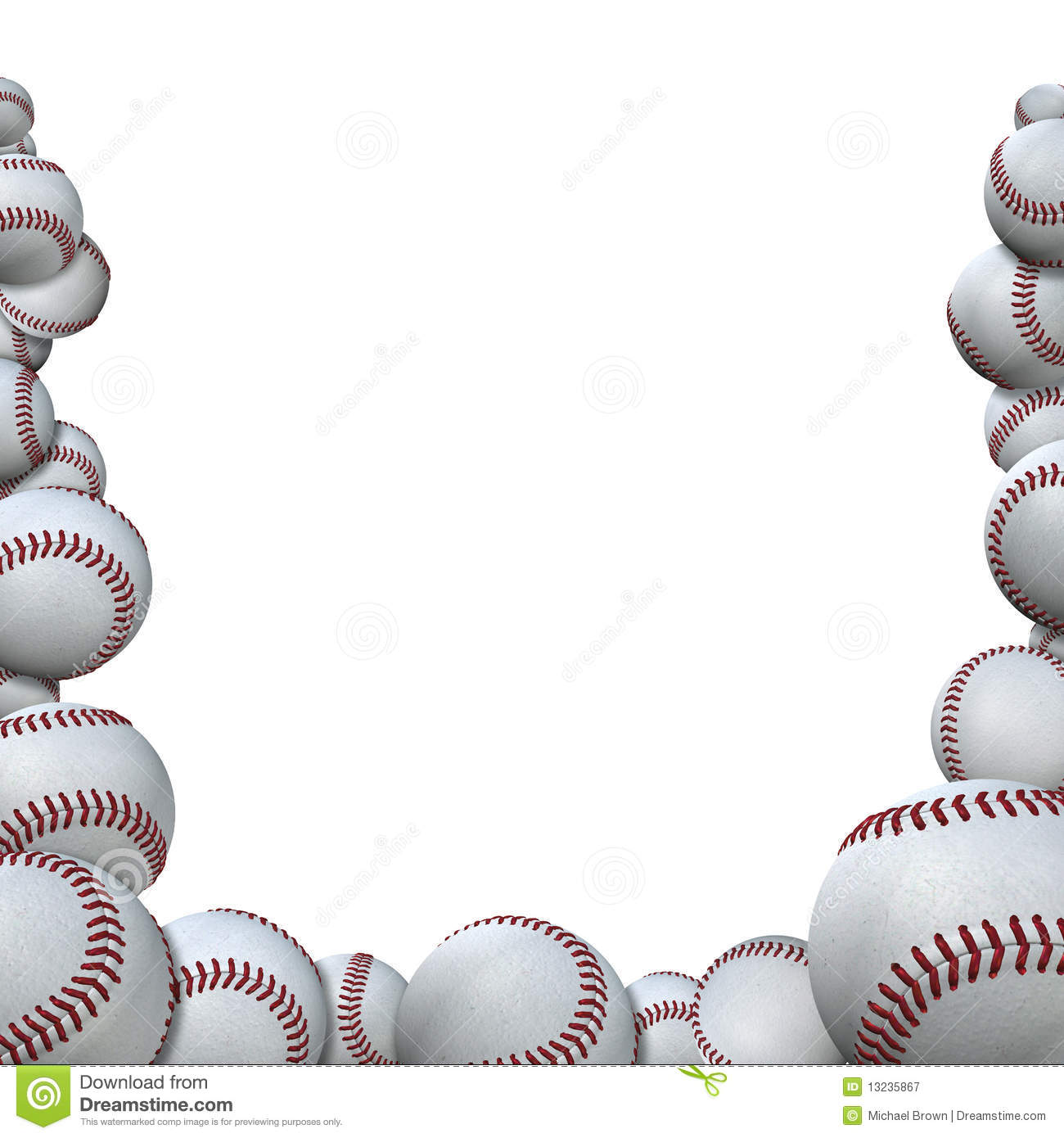 51+ Baseball Border Clipart.