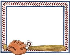 18 Baseball Border Template Images.