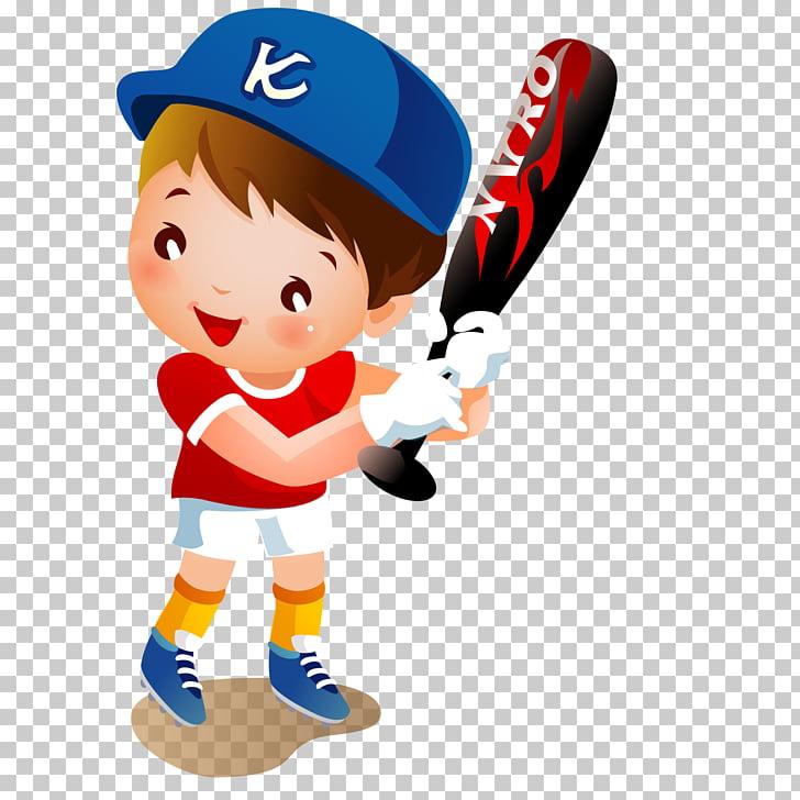Baseball Cartoon, Baseball cartoon children material PNG.