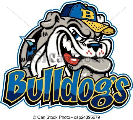 baseball bulldog clipart #2