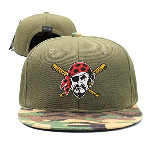 srygjukuu Fitted Pirate Baseball Bat Clip Art Snapback Hats.