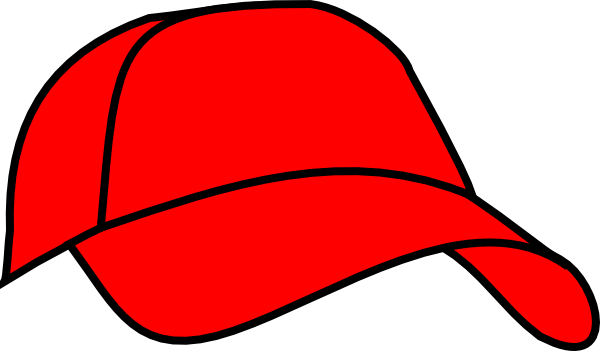 Baseball hat red baseball cap clip art at vector clip art.