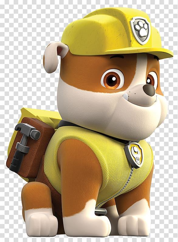 Brown and white Paw Patrol character illustration, 3D.