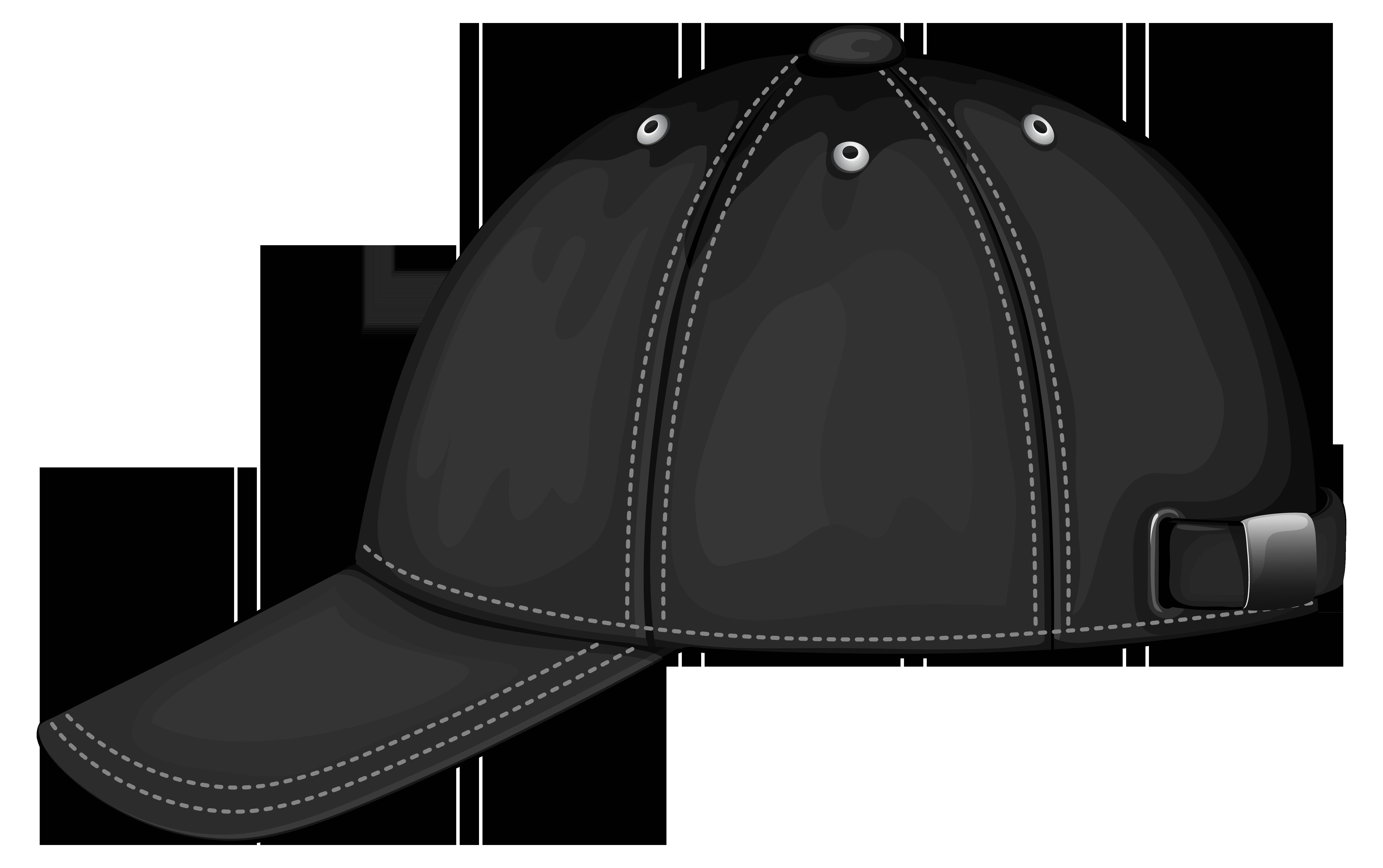 Black Baseball Cap PNG Image Clipart.